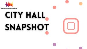 City Hall Snapshot: City Council Meeting