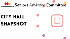 City Hall Snapshot – Seniors Advisory Committee Meeting